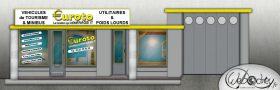 Illustration 2D d'une agence locale